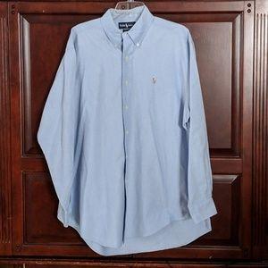 Ralph Lauren Long Sleeve Button Front Shirt 16.5